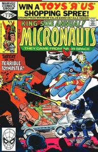 Micronauts (1979 series) Annual #2, Fine- (Stock photo)