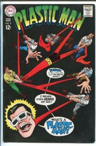 PLASTIC MAN #8 1968-DC COMICS-BLACK COVER-vf minus