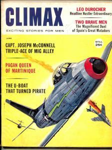 Climax Magazine June 1960- Durocher- Bullfighters- DL Champion VG
