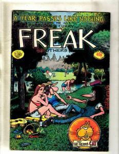 Lot Of 4 Fabulous Furry Freak Brothers # 3 4 5 10 Rip Off Press Freddys Cat JF30