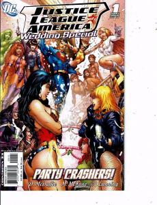 Lot Of 2 DC Comic Books Justice League America Wedding #1 and Secret #1  LH24