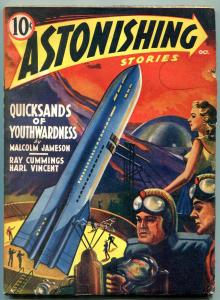 Astonishing Stories Pulp October 1940- Malcolm Jameson- Rocket cover VG/F
