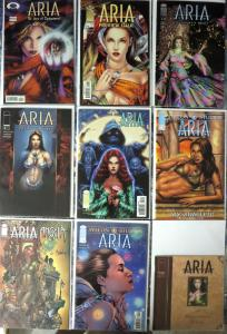 ARIA Comic Lot - 9 backissues Image Comics Angela app dark urban mythic fantasy