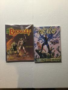 Nexus Beowulf Time Beavers Demon Knight Graphic Novel First Comics Nm Near Mint