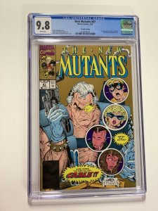 New Mutants 87 Cgc 9.8 White Pages Marvel X-men Copper Age 2nd Print