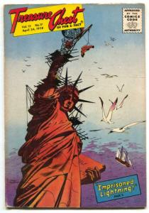 Treasure Chest Vol. 13 #17 1958- Statue of Liberty VG+