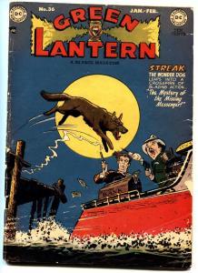 GREEN LANTERN #36-DC STREAK THE WONDER DOG COVER 1949-GOLDEN-AGE
