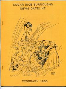 Edgar Rice Burroughs News Dateline #17 2/1985-Tarzan-fanzine-newsletter-VF