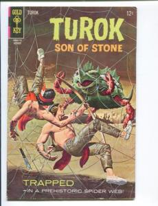TUROK SON OF STONE #59-DELL-1957-DINSOSAUR COVER AND STORIES- RARE FN