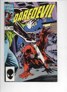 DAREDEVIL #240 NM-  Murdock, Man without Fear, 1964 1987, more Marvel in store