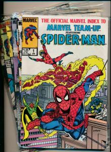 Marvel Set of 6- Index to Marvel Team-Up ft. SPIDER-MAN #1-6 F/VF (PF663)