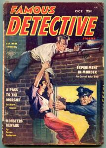Famous Detective Stories Pulp October 1954- Experiment in Murder VG