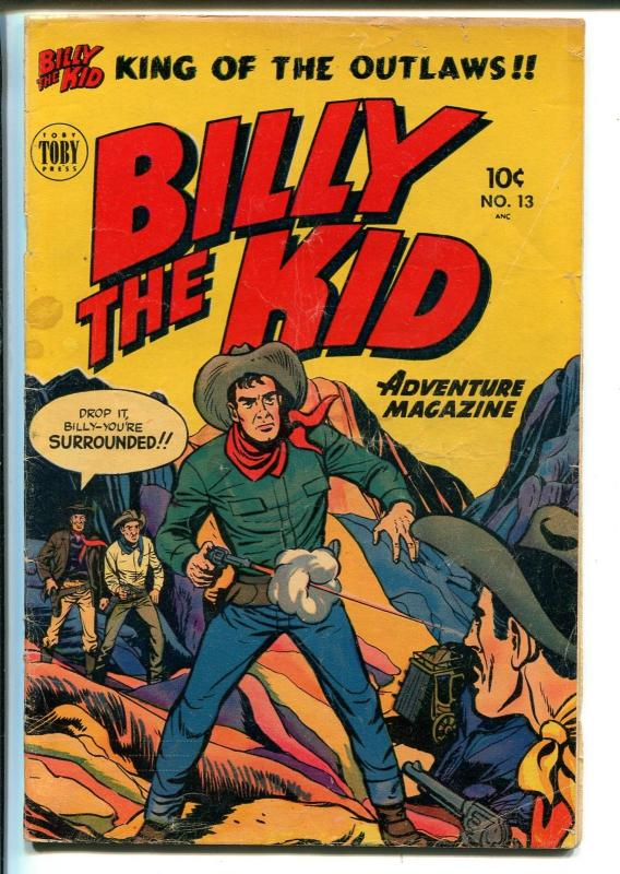 Billy The Kid Adventures #13 1952-Toby-western stories-Phantom Stagecoach-VG