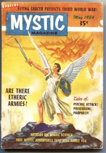 MYSTIC MAGAZINE-#4-MAY1954-PULP-FLYING SAUCER-MYSTERY-PULP-THRILLS