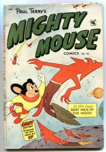 Mighty Mouse #42 1953- Dart Men of the Moon VG-