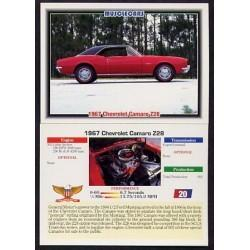 1992 Collect-A-Card Musclecars 1967 CHEVROLET CAMARO Z28 #20