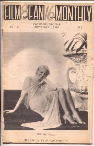 Film Fan Monthly #63 9/1966-Thelma Todd-Leonard Maltin-VG