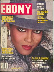 Ebony 1/1984-Mature Woman Special Beauty Section-Count Basie-Olympics-VG