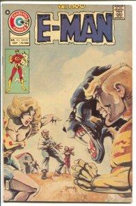 E-Man #10 1975-Charlton-Joe Stanton-John Byrne-Rog 2000-Nicola Cuti-VF