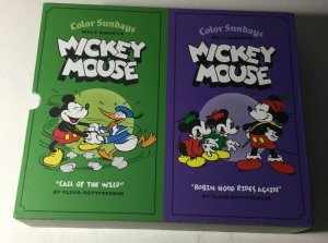 Color Sundays Walt Disney's Mickey Mouse Volume 1 2 HC Hardcover With Slipcover