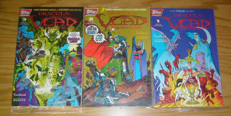 Dracula: Vlad the Impaler #1-3 VF/NM complete series in bags w/cards  roy thomas