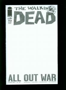 WALKING DEAD #115 COVER L 2013-BLANK COVER-ALL OUT WAR PART 1