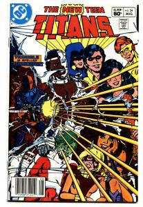 NEW TEEN TITANS #34 comic book DEATHSTROKE issue-Comic Book