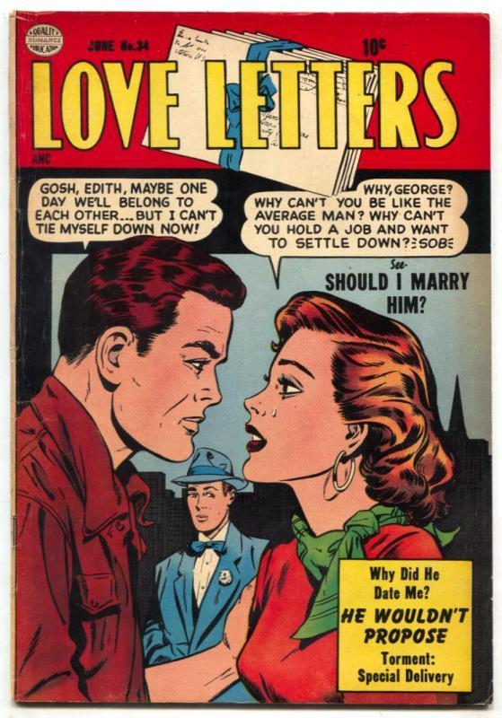 Love Letters #34 1954- Golden Age Romance- VG/F