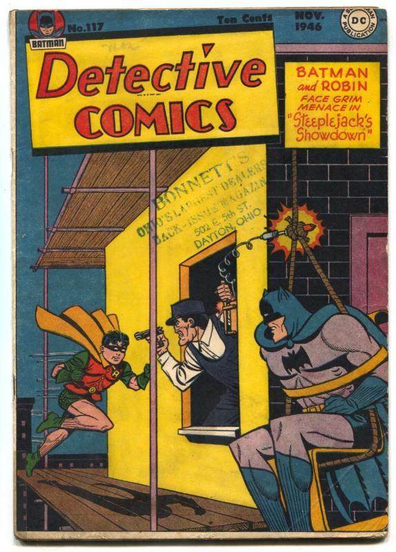 Detective 117 1946- BATMAN-Air Wave-Boy Commando- VG+