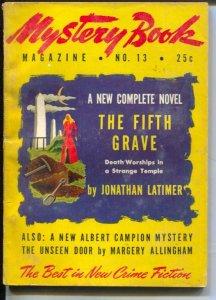 Mystery Book magazine 8/1946-hardboiled crime pulp fiction-Latimer-VG