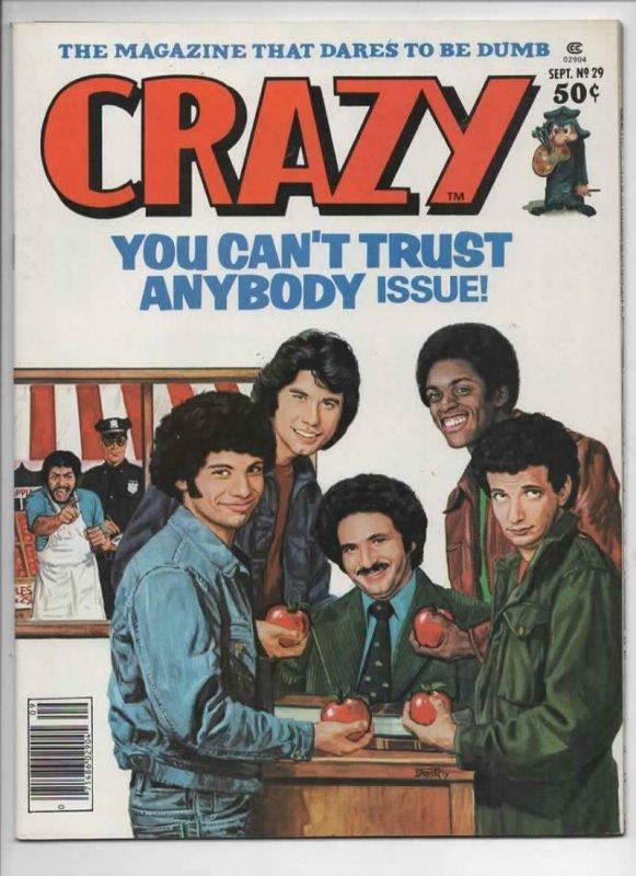 CRAZY #29 Magazine, VF+, Welcome Back Kotter, Travolta, 1973 1977, more in store