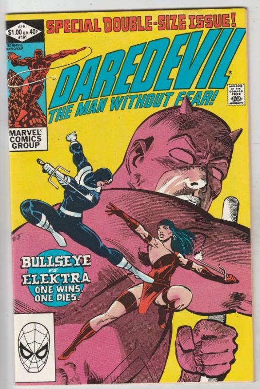 Daredevil #181 (Apr-82) NM/NM- High-Grade Daredevil