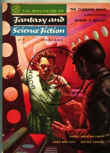 MAGAZINE OF FANTASY AND SCIENCE FICTION-Feb 1955-Science Fiction Pulp Thrills