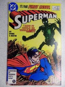 SUPERMAN VOL TWO # 1 DC JOHN BYRNE POST CARD INTACT
