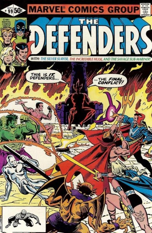 DEFENDERS #99, VF/NM, Dr Strange, Valkyrie, Hulk, Surfer,1972 1981, Son of Satan