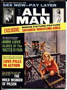 All Man 3/1964-Stanley-Japanese female wrestling-Nazi escape cover