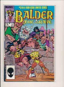 BALDER The BRAVE #1-4 Set (1,2,3,4) Marvel Comics ~ VF/NM 1985 (PF405)