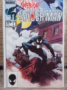 Web of Spiderman  1 VF/NM unread condition. Black costume cover!