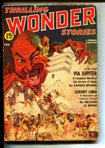 Thrilling Wonder Stories-Pulps-2/1942-Eando Binder-Oscar J. Friend