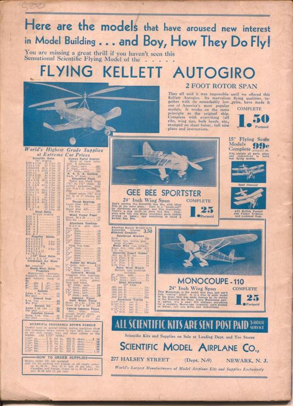 Model Airplane News 9/1932-Boeing Bomber In Action-Kotula-FN