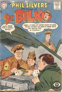 SGT BILKO #6--1958--PHIL SILVERS TV SERIES COMIC BOOK--CARD GAME COVER-RARE-D C
