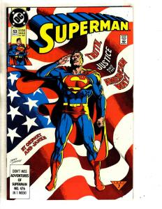 Lot Of 6 Superman DC Comic Books # 53 62 76 78 82 + Man Of Steel # 1 TP6