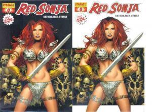 RED SONJA (2005 DYNAMITE) 0A-0B  Greg Land