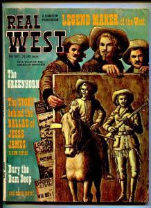REAL WEST SEPTEMBER 1973-CHARLTON-BUFFALO BILL-JESSE JAMES-VG