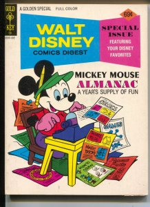 Walt Disney Comic Digest #57 1975-Mickey Mouse Almanacl-Carl Barks art-VF