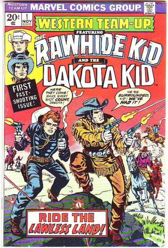 Western Team-Up #1 (Nov-73) VF/NM High-Grade Dakota Kid, Rawhide Kid, Gunsmok...