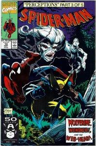 Spider-Man #10 (1990 v1) Todd McFarlane  Wolverine NM