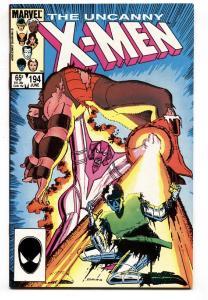 X-MEN #194 1985-MARVEL 1st Fenris (Andrea von Strucker and Andreas von Strucker)