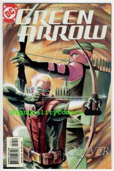 GREEN ARROW 10, NM, Kevin Smith, Quiver, Fathers Day, 2001, more GA in store