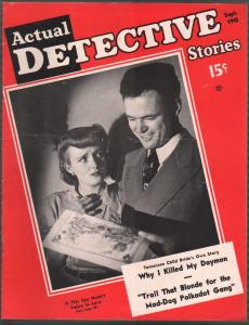 Actual Detective 9/1942-crime-mystery-horror-pix-pulp thrills-WWII-Uncle Sam-FN